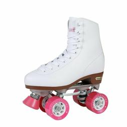 Chicago Roller Skates, Size 7 , White with Pink, Quad Skates