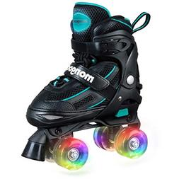 Mongoose Roller Skates for Girls Adjustable with Light Up Wh