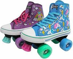 Lenexa Roller Skates for Girls - Pixie Unicorn Kids Quad Rol