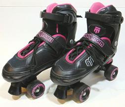 Mongoose Roller Skates Girls Adjustable Quad Pink And Black