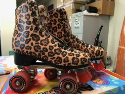 Impala Roller Skates Leopard/Red Women's Size 8 *USED*