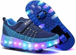 Nsasy Roller Skates Shoes Girls Boys Roller Shoes, 8211-blue