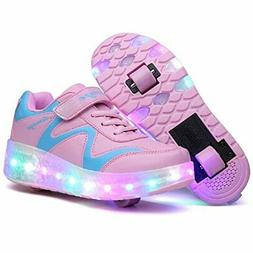 Nsasy Roller Skates Shoes Girls Boys Roller Shoes Kids Wheel