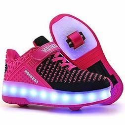 Nsasy Roller Skates Shoes Roller Sneakers Led Light Up Shoes