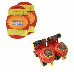 Playwheels Roller Skates With Knee Pads