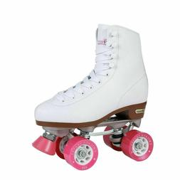 Chicago Roller Skates, Women's Size 7, White with Pink, Quad