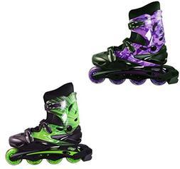 PACKGOUT Girls Inline Skates Adjustable Rollerblades for Kid