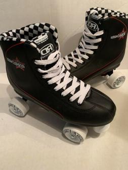 roller star 600 skates black white checker