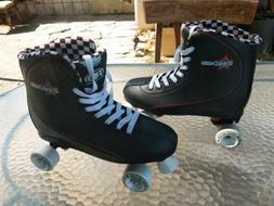 Roller Derby Roller Star 600 Skates Black/white Checker Sz 1