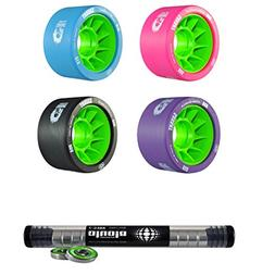 Atom Savant Skate Wheels with Bionic Bearings 8mm Full Set o