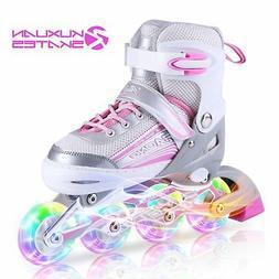 Kuxuan Saya Inline Skates Adjustable for Kids,Girls Rollerbl