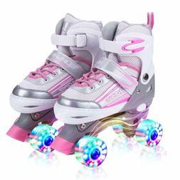 Kuxuan Saya Roller Skates Adjustable for Kids,with All Wheel