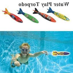 mrGood 4 Pcs/Set Torpedo Rocket Throwing Toys Children Swimm