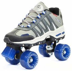 Silver / Gray Sonic Cruiser Outdoor Quad Roller Skates w/ Bl