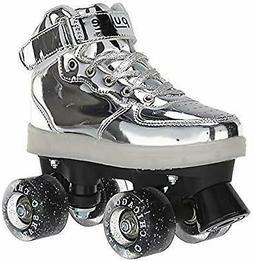 Chicago Skates Silver Pulse Light-up Roller Skates - Silver
