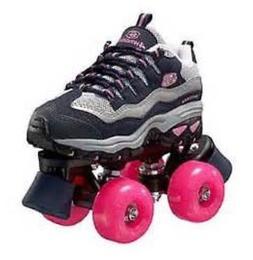 size 13 youth SKECHERS 4 WHEELER ROLLER SKATES skate quad de