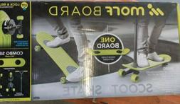 MorfBoard Skate & Scoot Combo Set, Chartreuse/Black Color