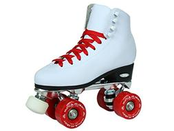 Epic Skates Classic High-Top Quad Roller Skates with Red Whe