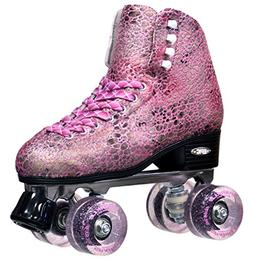 Epic Skates Sparkle High-Top Quad Roller Skates