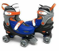 Chicago Skates Adjustable Girls Quad Roller Skate - Pink/Whi