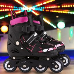 Skates Adjustable Inline Skates with Light Up Wheels Roller