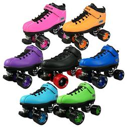 Riedell Skates - Dart - Quad Roller Speed Skates,Purple, Men