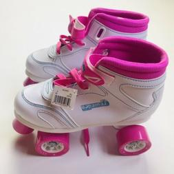 CHICAGO SKATES GIRLS SIDEWALK SKATE-CRS100-WHITE/PINK-SIZE 4