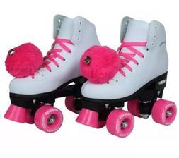 Epic Skates Pink Princess Girls Quad Roller Skates Size 5