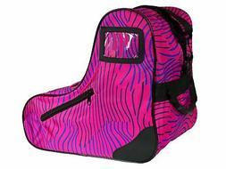 Epic Skates Epic Pink Zebra Premium Skate Bag, Pink/Purple,