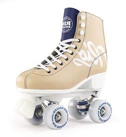 Rio Roller Roller Skates Script Tan/Blue