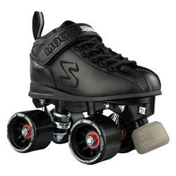 Zoom Roller Skates by Crazy Skates | Black Quad Speed Skates