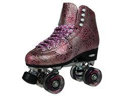 Epic Skates Sparkle High-Top Quad Roller Skates