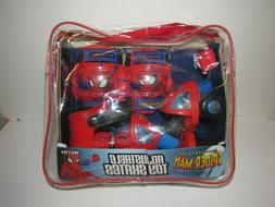 Spiderman Toy Skates Adjustable Roller Skates, Knee & Elbow
