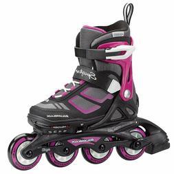 Rollerblade Spitfire XT Girls Adjustable Skate Black/ Purple