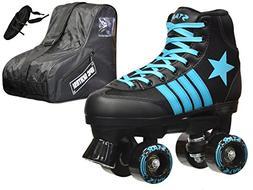 Epic Skates Epic Star Hydra Black and Blue High-Top Quad Rol