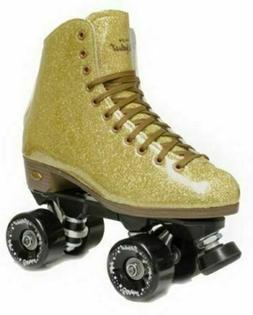 Sure-Grip Stardust Glitter Roller Skate - Gold  Mens 7 / Lad