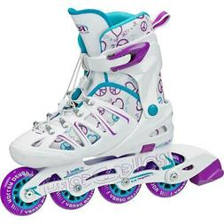 Roller Derby Stinger 5.2 Adjustable Girl's Inline Skate Whit
