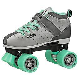 Roller Derby Str Seven Women's Roller Skate, Grey/Mint, 9