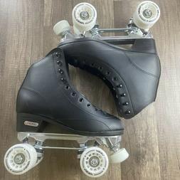 stratos traditional quad roller skates black sz