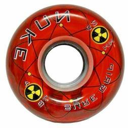 Sure-Grip NUKE 78A 62mm Quad Roller Skate Wheel - red