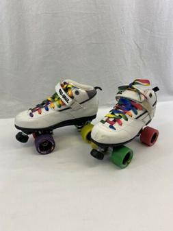sure grip rebel Skates Size 10 White Used Shows Wear On The