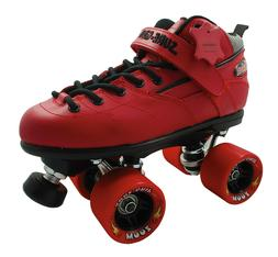 Sure-Grip Red Rebel Woman Size 5 Men 4 w/Twister Roller Skat
