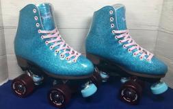 Sure Grip Stardust Roller Skates Glitter Blue Size 3