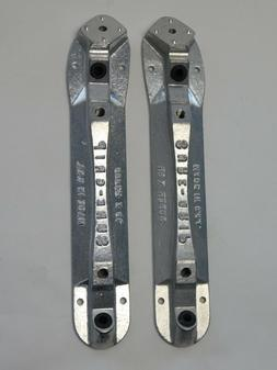 SURE-GRIP Super X Aluminum Roller Skate Plates, Size 8, Pair
