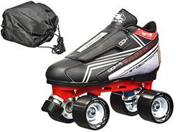 New! Pacer Tarmac F-400 Quad Roller Speed Skates w/Free Draw