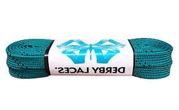 Teal Derby Laces Waxed Roller Derby Skate Lace in 60, 72, 84