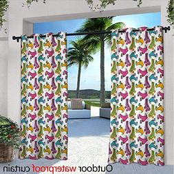 Teen Room Outdoor- Free Standing Outdoor Privacy Curtain W72