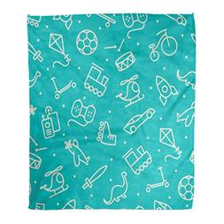 Emvency Throw Blanket Warm Cozy Print Flannel Pattern Baby B