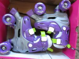 toddler roller skates purple silver