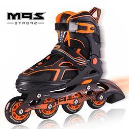 2PM SPORTS Torinx Orange Black Boys Adjustable Inline Skates